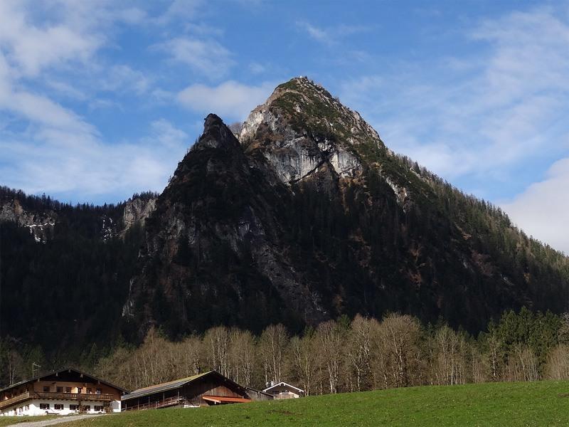 Grünstein und Archenkanzel: Grünstein: Blick von Schönau am Königssee auf den Grünstein.