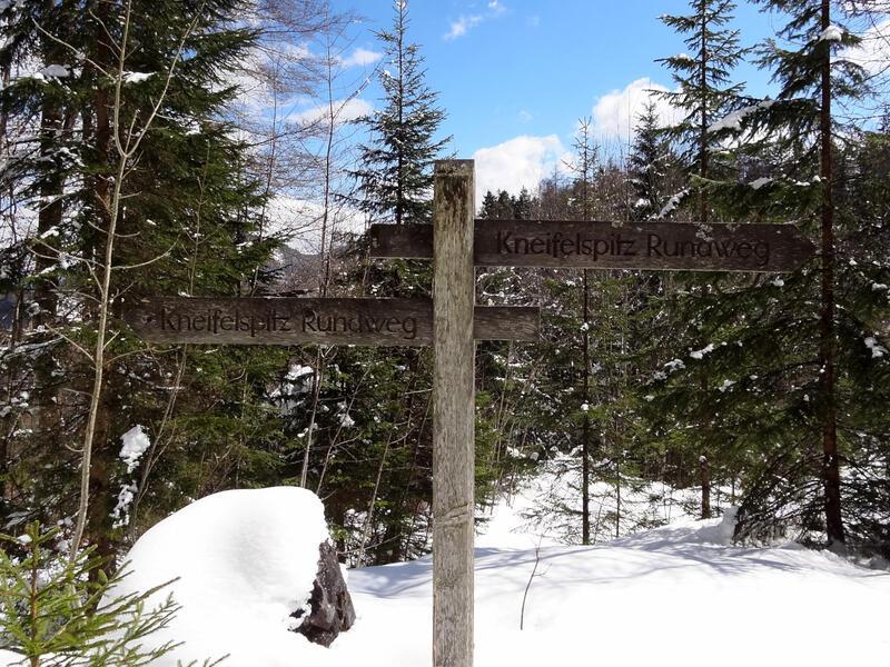 Kneifelspitze von Maria Gern: Kneifelspitz-Rundweg: Im Winter ist man auf dem Kneifelspitz-Rundweg oft allein.