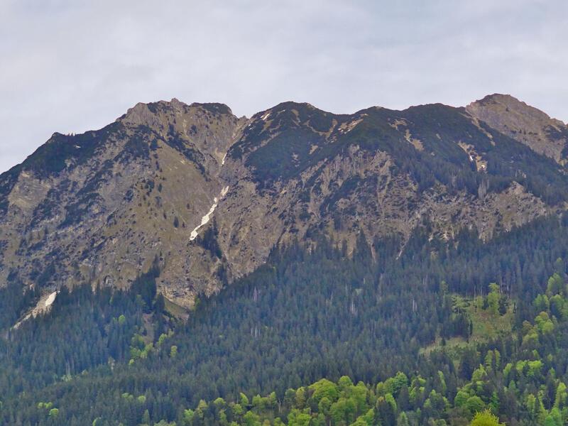 Rubihorn und Gaisalpsee: Rubihorn: Blick von Oberstdorf auf Rubihorn (links) und Gaisalphorn (rechts). Dazwischen liegt das Niedereck.