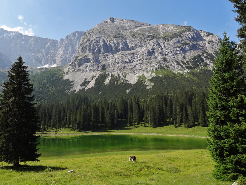 Seebensee und Drachensee: Igelsee und Igelskopf: Beim Hin- oder Rückweg kann man einen Abstecher zum Igelsee machen.