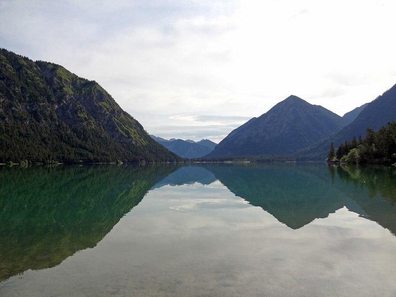 Hochschrutte aus dem Pitzental: Heiterwanger See: Blick von Westen über den Heiterwanger See.