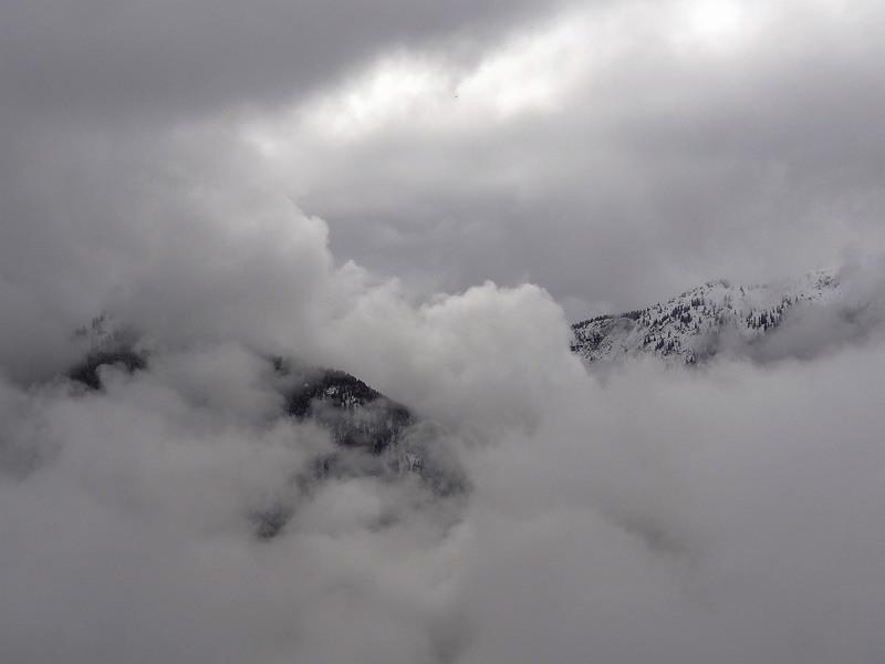 Koflerjoch: Wenn sich die Gipfel nicht in den Wolken verstecken, hat man auf der Tour eine wirklich schöne Aussicht.