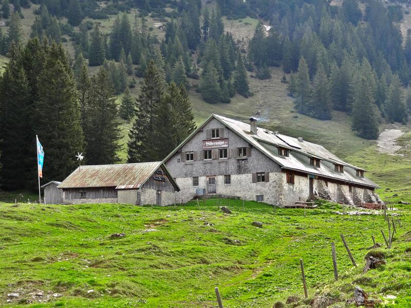 Willersalpe und Wildfräuleinstein: Willersalpe: Die Willersalpe bei Hinterstein ist eine der letzten unerschlossenen Almen in Bayern.